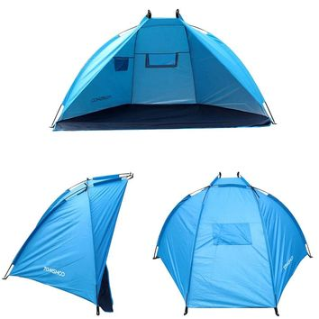 TOMSHOO Anti UV Beach Tent 2 Persons Camping Tent Single Layer Outdoor Tent Sun Shelters Awning Shade for Fishing Picnic Park