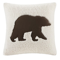 Woolrich Hadley Plaid Bear Square Pillow