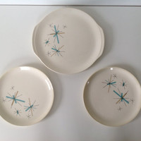 Vintage North Star Salem Platter and Two Dinner Plates