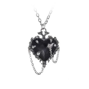 Witches Heart Pendant Necklace