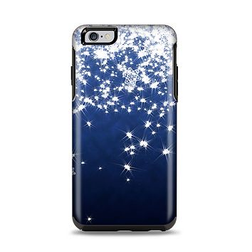 The Glowing White SnowFlakes Apple iPhone 6 Plus Otterbox Symmetry Case Skin Set