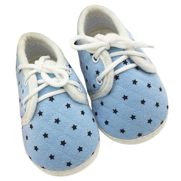 Newborn Infant Toddler Baby Boy Girls Kids Soft Sole Shoes Laces Up Sneaker First Walkers 0-18MSM6
