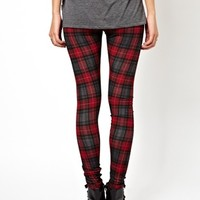 ASOS Leggings in Plaid