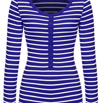 Connie Stripe Long Sleeve Top