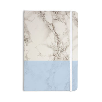 "Suzanne Carter ""Marble And Blue Block"" Modern Gray Everything Notebook"