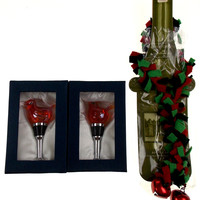 Bird Glass Metal Wine Stopper Decoration Gift Set 3 Artistic Creations Hand Made