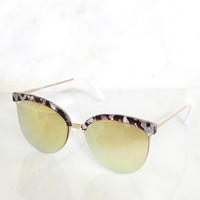 Tortoise Mirror Sunglasses