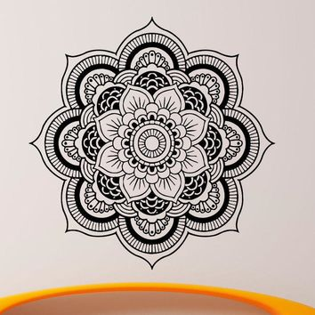 D360 Mandala Wall Decal Vinyl Sticker Indian Om Lotus Flower Yoga Home Decor Wall Art mural for Living room Bedroom Decorate
