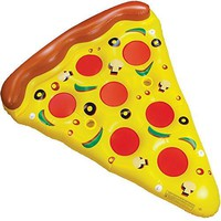 6-Foot Supreme Pizza Slice Pool Float with Cup Holders by Sol Coastal