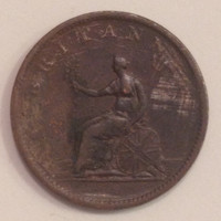 Vintage 1806 Large British Half Penny Copper Coin, 209 Year Old Coin