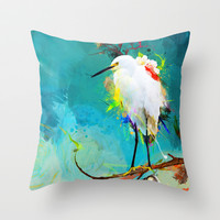 Evening Sun Throw Pillow by Archan Nair