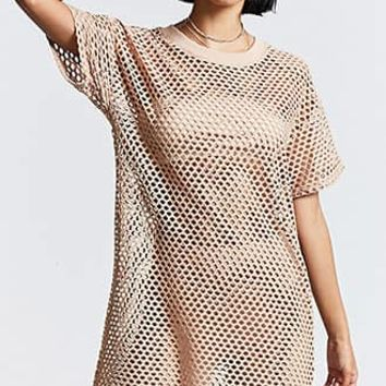 Relaxed Open Mesh Dress