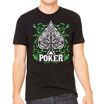 Poker T-shirts Player Gifts Playing Cards ace of spades Shirt, Poker Shirt, Poker Player tee, Poker Gift, Casino Tee, Unisex Gambling Shirt