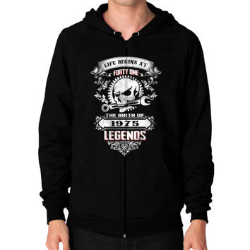 The birth of legends 1975 Zip Hoodie (on man)