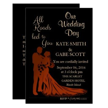 Customizable Verse WEDDING INVITATION