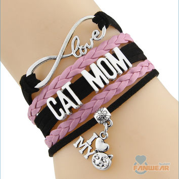 CAT MOM Infinity Love Bracelet