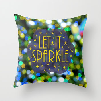 Let Its Sparkle Throw Pillow by RichCaspian