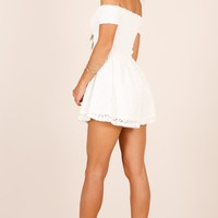 More Life playsuit in white lace Produced By SHOWPO