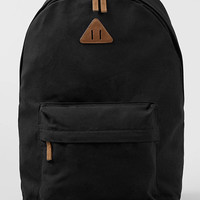 Black Canvas Backpack - TOPMAN USA