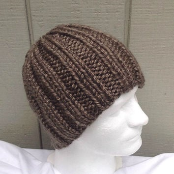 XL Mens hat - Super chunky hat - Mens knit beanie - Teens knitted hat - Mens accessories