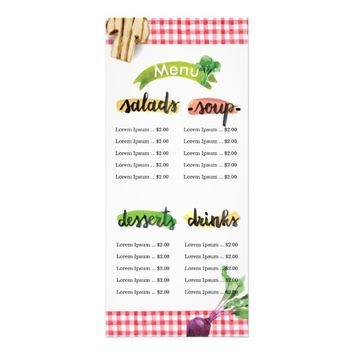 Healthy homemade organic vegan menu template