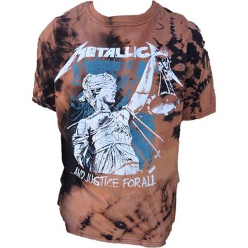 "Hand Bleached Metallica ""Justice for All"" Band Tee"