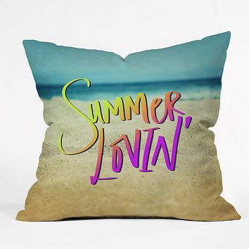 Leah Flores Summer Lovin Beach Throw Pillow