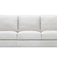 Leather Queen Sleeper, Color Customizable Leather 3-Seat Sofa Parma by Natuzzi Editions
