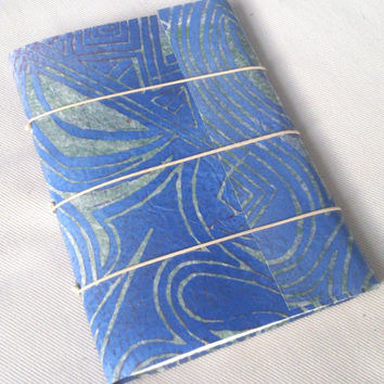 Blue shades small sketch journal Somerset paper unique small gift teacher present handmade book