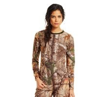 Under Armour Women's Charged Cotton Camo Long Sleeve
