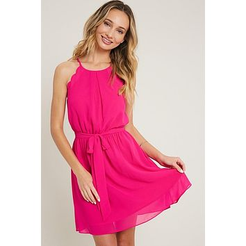Summer Party Dress in HOT PINK