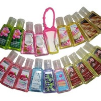 Bath & Body Works Pocketbac Grab Bag Bundle Set of (18) Anti-Bacterial Hand Gels & (1) Pocketbac Holders