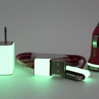 Hot Pink Glow in the Dark iPhone iPod iPad Charger