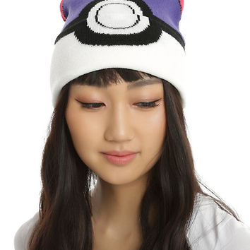 Pokemon Master Ball Knit Watchman Beanie