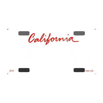 Smart Blonde California Novelty State Background Customizable Bicycle License Plate Tag Sign