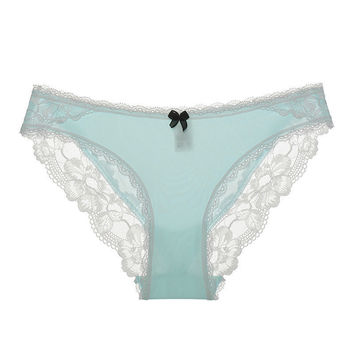 Ladies Soft Lace Sexy Low Waist Hollow Out Panties [9753175567]