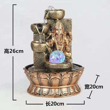 Elegant LED Religious Ganesha Water Fountain