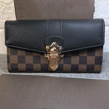 Perfect Louis Vuitton Women Fashion Leather Purse Clutch Bag Handbag