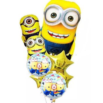 8pcs/lot Large SizeMinions Foil Balloons Despicable Me minion Christmas Foil balloon Balloons Birthday Party Wedding Decoration
