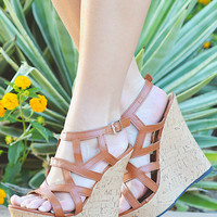 My Weekend Escape Wedge - Camel