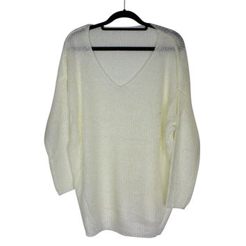 Shocking Show Womens Sexy V-Neck Oversized Batwing Slouch Knit Shirt Jumper Loose Sweater