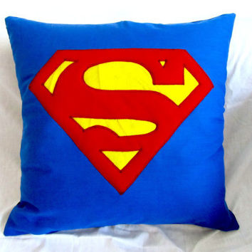 Superman Cushions by Gorgeoustuff on Etsy