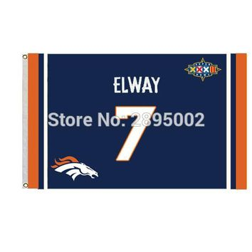 Denver Broncos Team Name USA Classic Man Cave Sports Banner Flag 3' x 5' Custom metal holes Hockey Baseball Football Flag