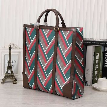 High End Mens Totes Genuine Leather Vintage Stripes Medium Satchels Bags for Men Business Fashion Mens Totes for Daily 406387