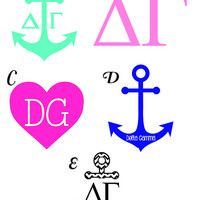 Delta Gamma decals