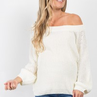 Pink Solid Knit Maternity Sweater