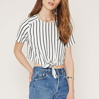 Contemporary Stripe Crop Top