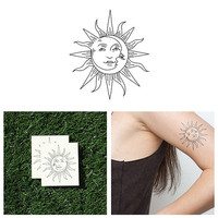 Sol Y Luna - Temporary Tattoo (Set of 2)