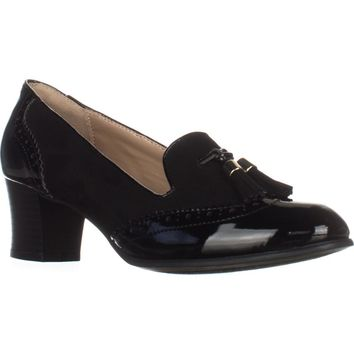 KS35 Terrie Tassel Loafer Pumps, Black, 9.5 US