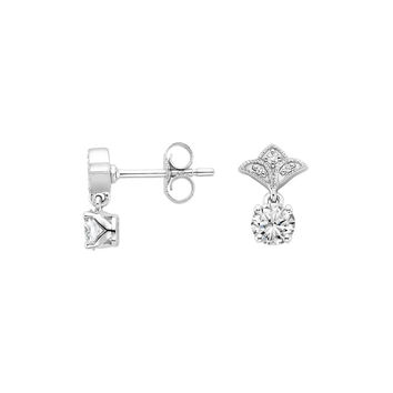 18K White Gold Vera Diamond Earrings (1/2 ct. tw.)